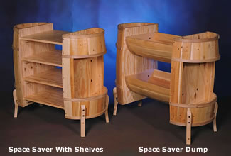 Space Saver with Shelves & Space Saver Dump