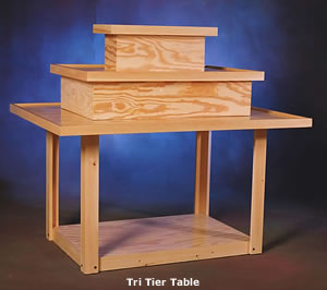 Tri-Tier table